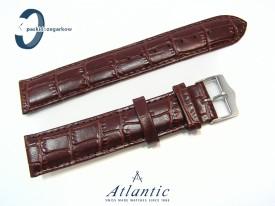 Pasek Atlantic 19 mm skórzany brązowy stalowa sprzączka
