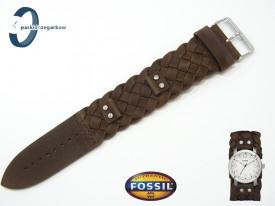 Pasek Fossil JR1290 skórzany brązowy z podkładką