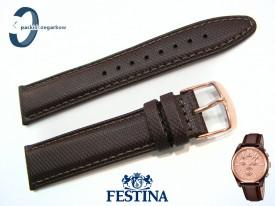 Pasek Festina F16863 skórzany brązowy 21 mm