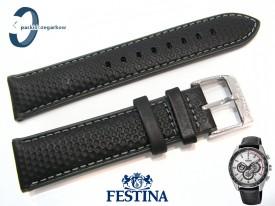 Pasek Festina F20202 skórzany czarny 22 mm