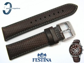 Pasek Festina F20202 skórzany brązowy 22 mm