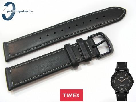 Pasek Timex TW2P95900 skórzany, czarny 20 mm