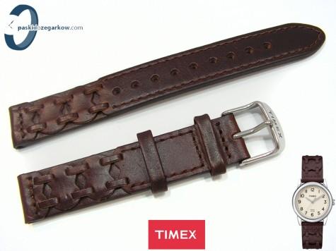 Pasek Timex T2N902 skórzany brązowy 16 mm