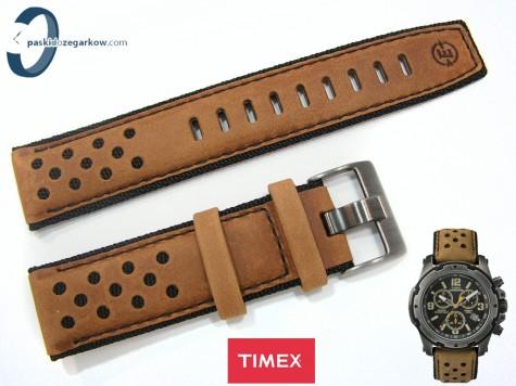 Pasek Timex Expedition TW4B01500 skórzany, brązowy, 22 mm