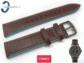 Pasek Timex T2P506 skórzany brązowy 20 mm