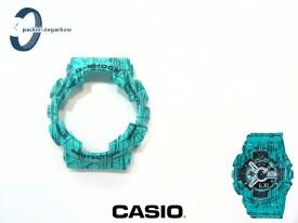 Bezel Casio GA-110SL-3A, GA-100, GA-110, GA-120, GD-100, GD-110, GD-120, GAX-100 turkusowy matowy wzór