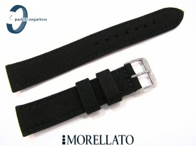Pasek MORELLATO CORDURA materiałowo-skórzany czarny 20 mm
