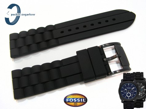 Pasek Fossil FS4487, FS4605 czarny silikonowy 24 mm