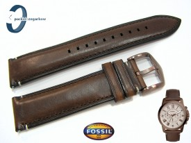 Pasek Fossil FS5344 skórzany brązowy 22 mm