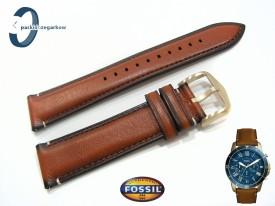 Pasek Fossil FS5268 skórzany brązowy 22 mm