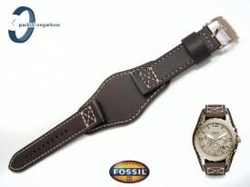 Pasek Fossil JR1495 brązowy skórzany z podkładką
