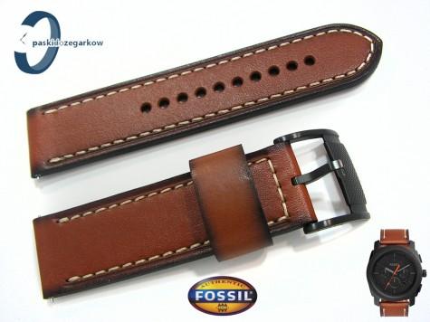 Pasek Fossil FS5234 skórzany brązowy 24 mm