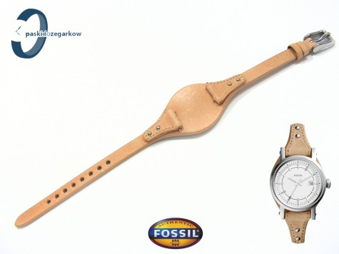 Pasek Fossil ES3908 skórzany beżowy z podkładką