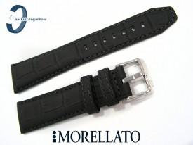 Pasek MORELLATO SOCCER 24 mm skórzany wodoodporny czarny