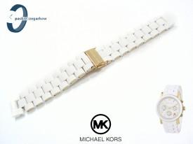 Bransoleta Michael Kors MK5145 gumowo-stalowa biało-złota