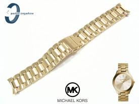 Bransoleta Michael Kors MK3179 stalowa w kolorze złotym