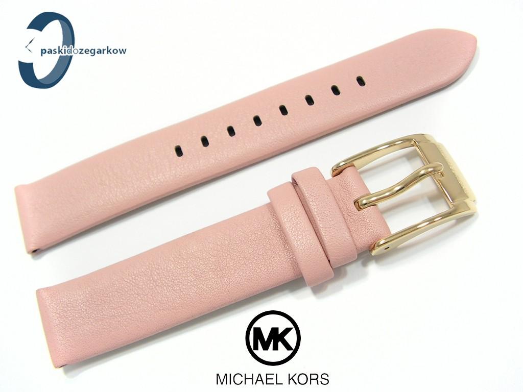 672bb5a562aef ... Pasek do zegarka Michael Korsk MK2659 skórzany różowy 16 mm ...