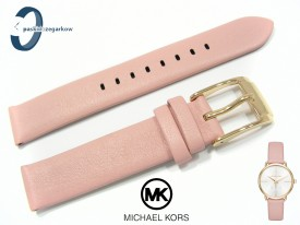 Pasek do zegarka Michael Korsk MK2659 skórzany różowy 16 mm