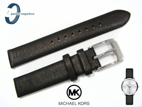 Pasek do zegarka Michael Kors MK2658 skórzany czarny 16 mm