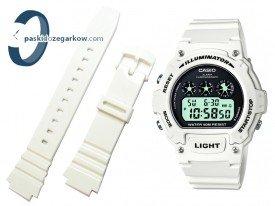 Pasek do zegarka Casio W-214HC biały połysk
