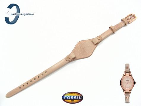 Pasek Fossil ES3262 skórzany beżowy z pokładką