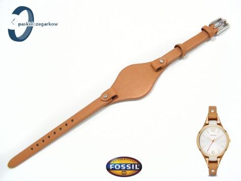 Pasek Fossil ES3565 skórzany jasny brąz z podkładką
