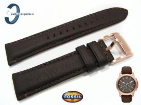 Pasek Fossil FS4648 skórzany brązowy 22 mm