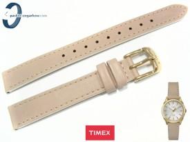 Pasek Timex TW2P82000 skórzany, beżowy 14 mm
