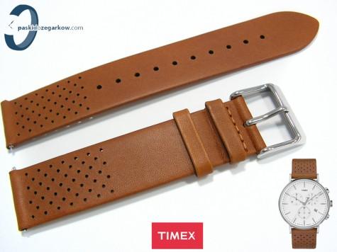 Pasek Timex T2R26700 skórzany brązowy 20 mm