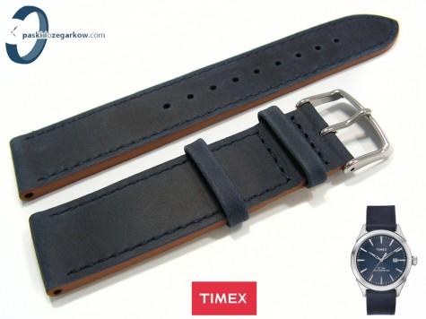 Pasek Timex TW2P77400 skórzany granatowy 20 mm