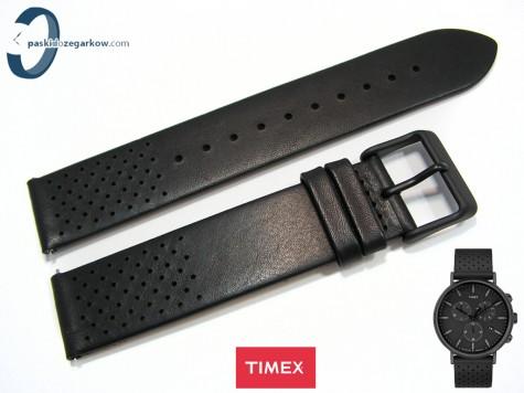Pasek Timex TW2R26800 skórzany, czarny 20 mm