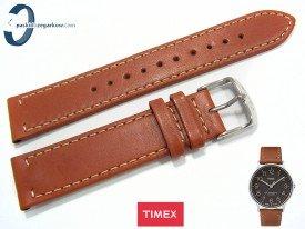 Pasek Timex TW2P95800 skórzany, jasny brąz 20 mm