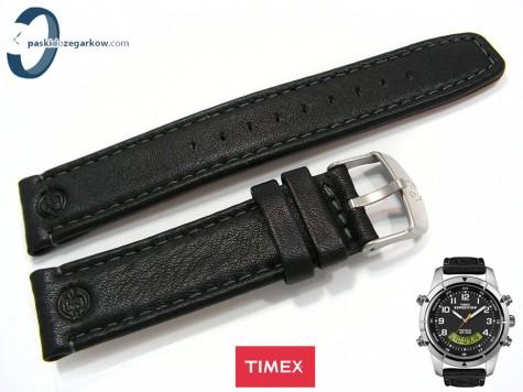 Pasek Timex T49827 skórzany, czarny 20 mm