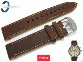 Pasek Timex TW4B04300 skórzany brązowy 20 mm