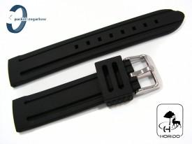 Pasek HORIDO silikonowy czarny 22 mm