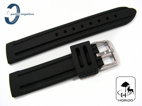 Pasek HORIDO silikonowy czarny 20 mm