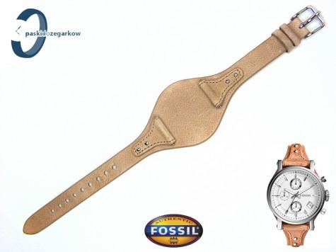 Pasek FOSSIL ES3625 skórzany beżowy z podkładką