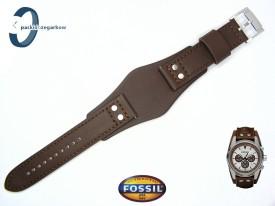 Pasek FOSSIL CH2565 skórzany brązowy z podkładką
