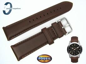 Pasek FOSSIL FS4814-P skórzany brązowy 22 mm