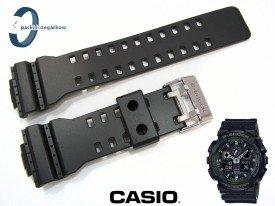 Pasek Casio GA-100L-1A, GA-100, GA-110, GA-120, GD-100, GD-110. GD-120, GAX-100 czarno-zielony matowy