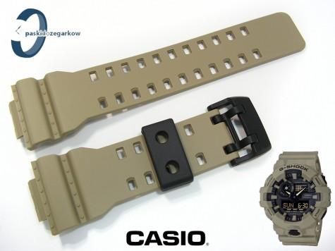 Pasek Casio GA-700UC-5A, GA-700-5, GA-700, GA-710 beżowy