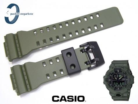 Pasek Casio GA-700UC-3A, GA-700UC-3, GA-700-3, GA-700, GA-710 MILITARY zielony