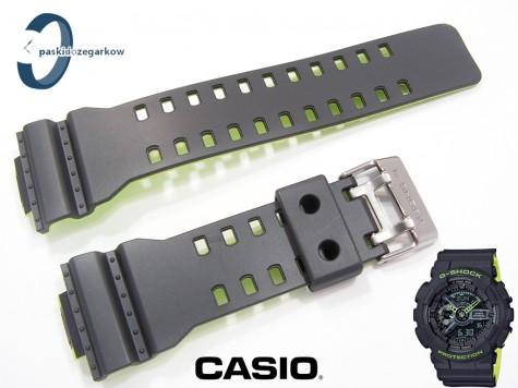 Pasek Casio GA-110LN-8A, GA-100, GA-110, GA-120, GD-100, GD-120, GD-110, GAX-100 ciemnoszary z zielonym spodem