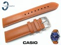 Pasek Casio EFV-510L-2AV, EFV-510 brązowy skórzany 22 mm
