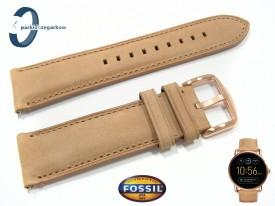 Pasek Fossil FTW2102 skórzany beżowy 22 mm