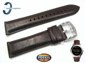 Pasek Fosil FTW2119 skórzany ciemny brąz 22 mm