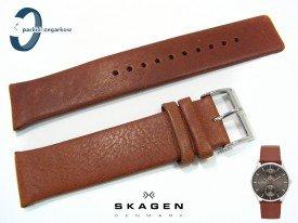Pasek do zegarka SKAGEN SKW6086 skórzany brązowy