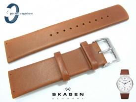 Pasek do zegarka SKAGEN SKW6082 skórzany brązowy