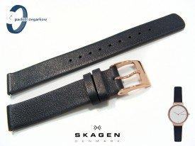 Pasek do zegarka SKAGEN SKW2608 skórzany czarny