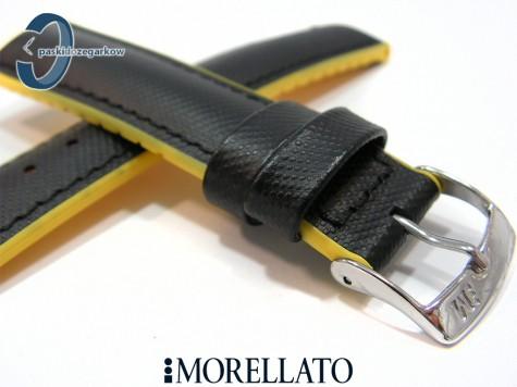Pasek Morellato BOXING wodoodporny czarno-żółty